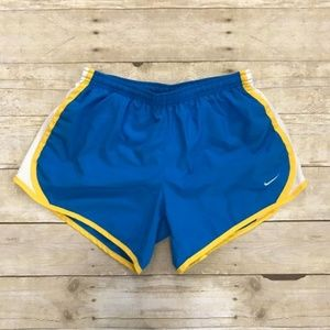 Nike Dri-Fit Running Shorts Blue Yellow White - XL
